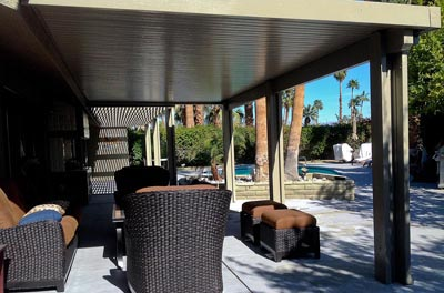 Solid Top and lattice Patio by Aladdin Patios